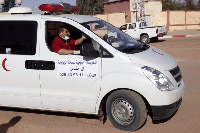 Ambulancia en Argelia