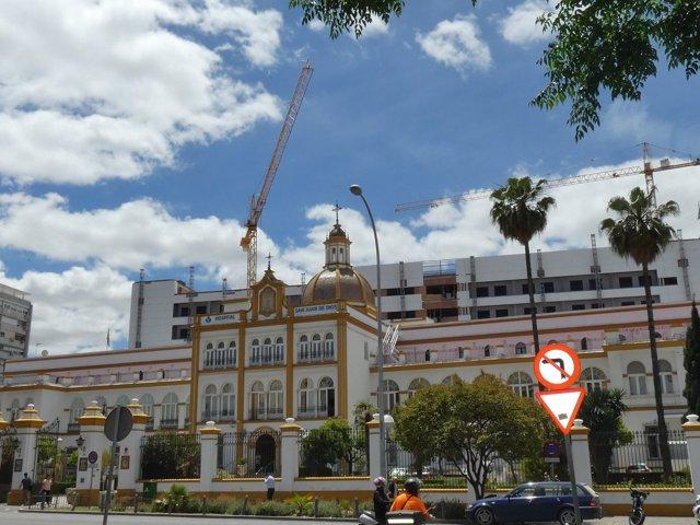 Obra de ampliación del Hospital de San Juan de Dios, en Sevilla