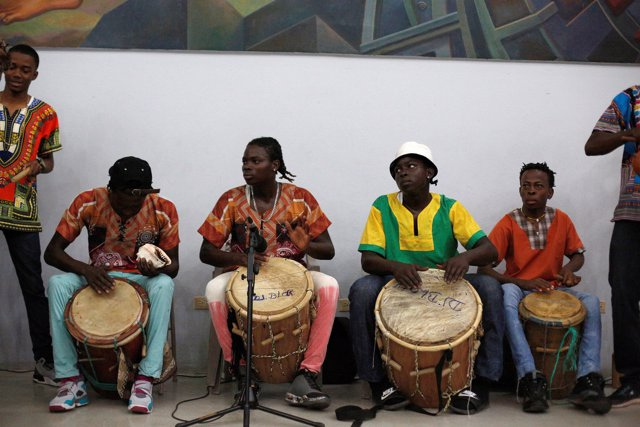 Garifunas perform at the National Autonomous University of Honduras (UNAH) in Te