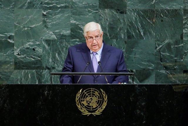 El ministro de Asuntos Exteriores sirio, Walid al Mualem