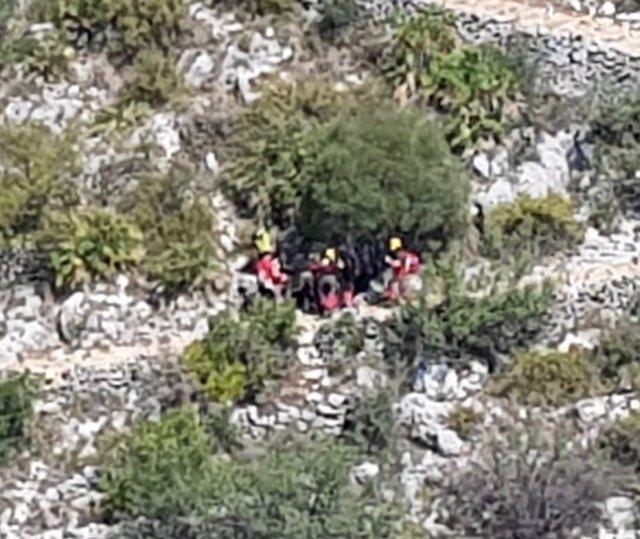 Rescate de una mujer en La Vall de Laguar