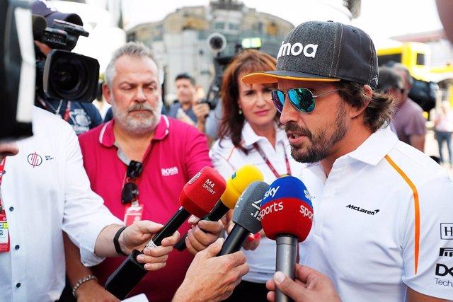 Fernando Alonso (McLaren), en el circuito de Monza