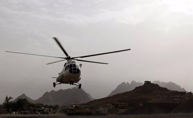 Helicóptero MI-8 en Afganistán