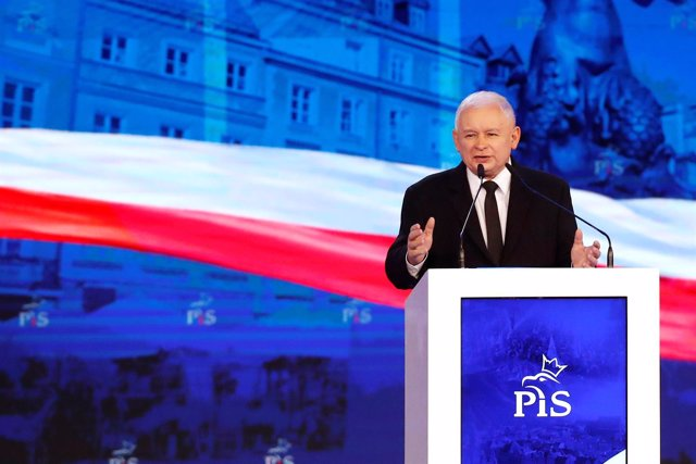 Jaroslaw Kaczynski en el congreso de Partido Ley y Justicia (PiS) en Varsovia
