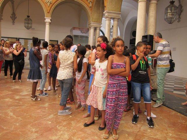 Niños saharuis en una visita a la Diputación de Córdoba