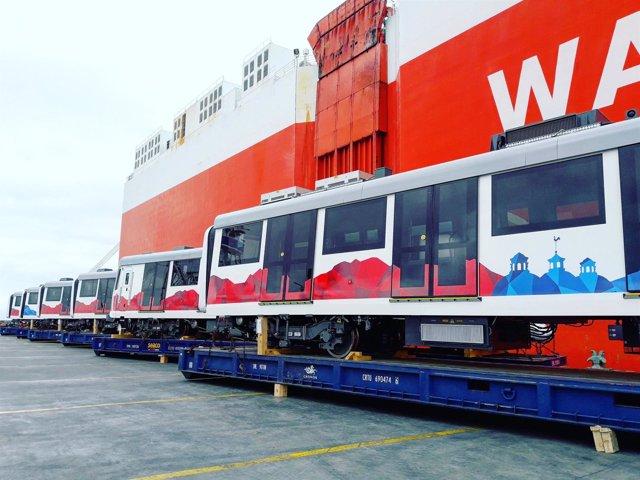 Primeros vagones del Metro de Quito