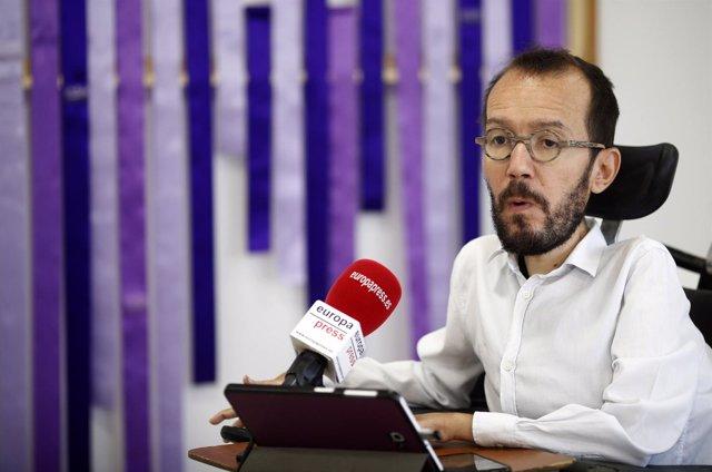 Entrevista de Europa Press al secretario de Organización de Podemos y secretario
