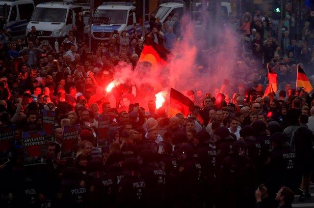 Manifestación ultraderechista en Chemnitz