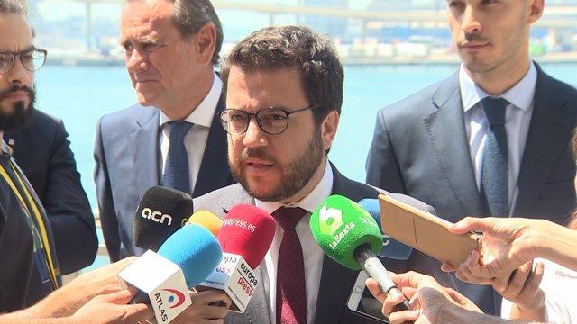 El vicepresidente de la Generalitat, Pere Aragonès, en una imagen de archivo