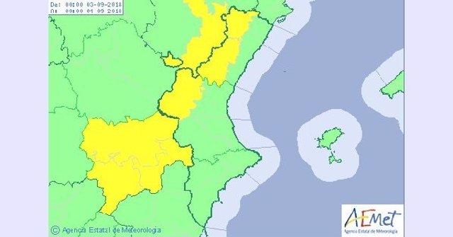 Previsión del tiempo para el lunes 3 de septiembre en Comunitat Valenciana