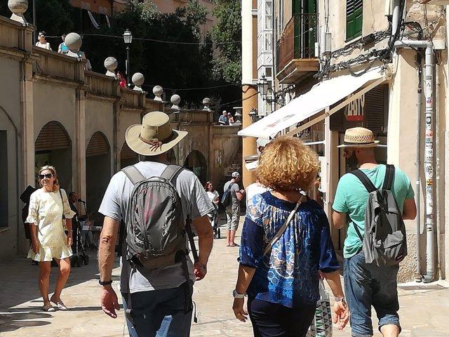 Turistas en Palma