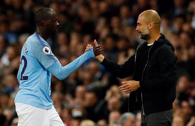 Manchester City Yaya Touré Pep Guardiola