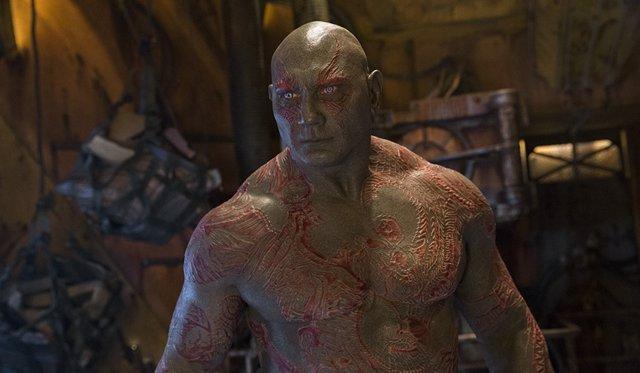 Dave Bautista en Guardianes de la galaxia Vol. 2