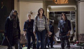 Foto: The Walking Dead: Daryl, Michonne, Maggie y Ezekiel pasean por Washington DC en un vídeo del rodaje de la 9ª temporada