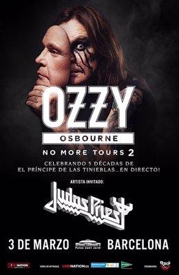 Cartel del concierto de Ozzy Osbourne en Barcelona