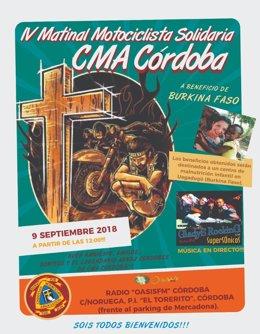 Cartel de la IV Matinal Motociclista Solidaria
