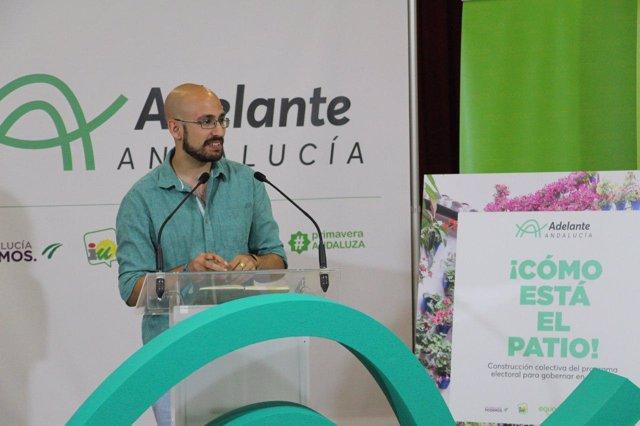 Pablo Pérez Ganfornina, durante el acto de 'Adelante Andalucía'
