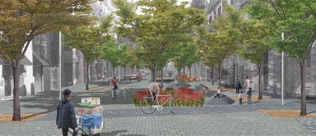 Actuaciones de reurbanización de un nuevo tramo de la calle Comerç