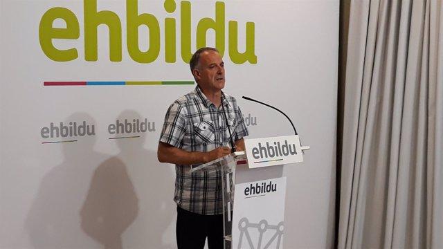 Adolfo Araiz, portavoz de EH Bildu.