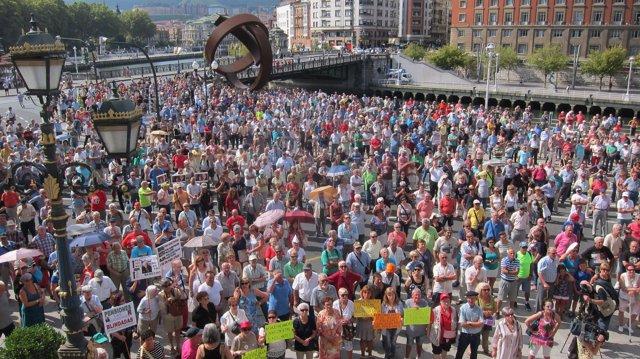 Concentración Pensionistas Bizkaia 3 Septiembre.