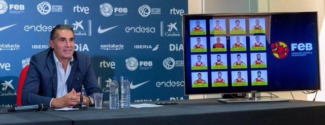 Sergio Scariolo, seleccionador nacional anuncia la lista de España