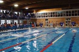 Panorámica de la piscina municipal Los Alcores de Alcalá de Guadaíra (Sevilla)