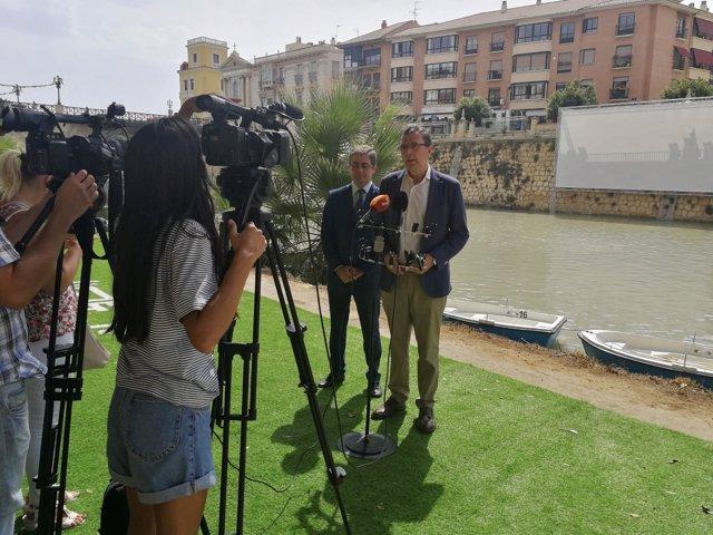 Ballesta y Pacheco presnetación río Segura