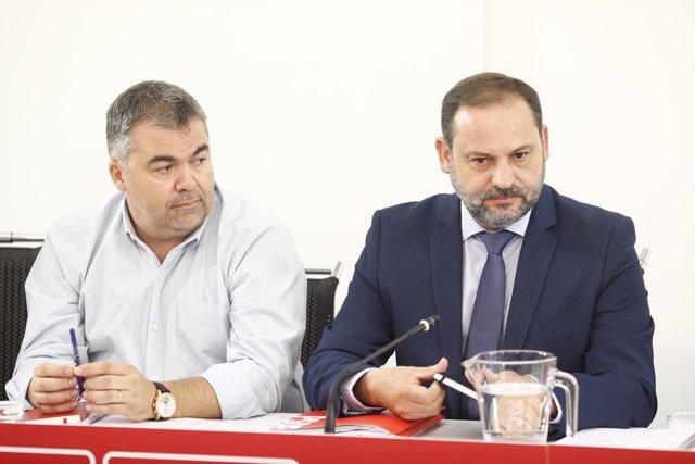 El ministro de Fomento, José Luis Ábalos, en la Ejecutiva del PSOE