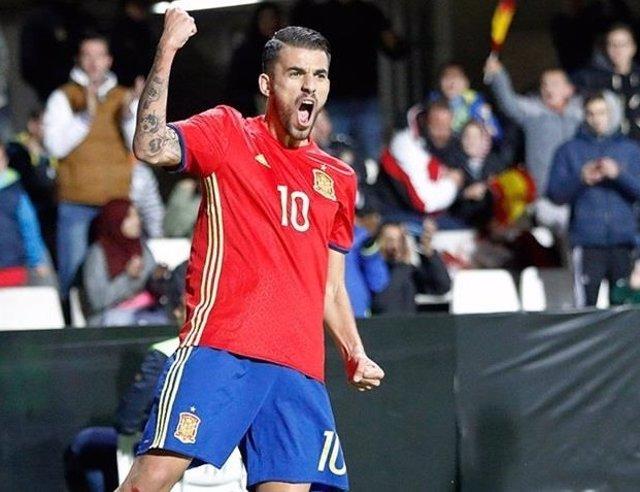 Dani Ceballos con la selección española sub-21