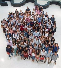 Alumnos de Relaciones Internacionales de la Universidad de Navarra.