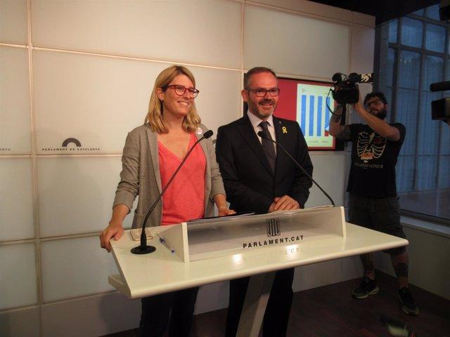 Elsa Artadi y Josep Costa