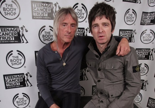 PAUL WELLER Y NOEL GALLAGHER