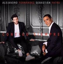Portada del sencillo Contigo Siempre de Alejandro Fernández junto a Yatra
