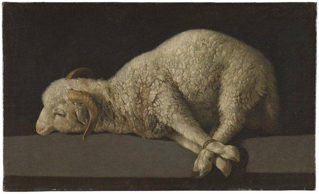 Obra 'Agnus Dei', de Zurbarán