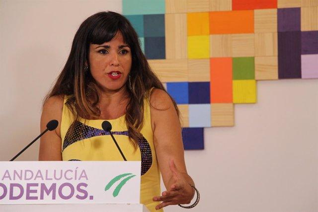 Teresa Rodríguez en rueda de prensa este martes