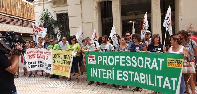 Protesta de interinos