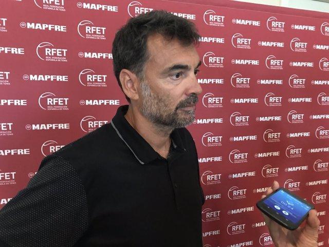 El capitán español de Copa Davis, Sergi Bruguera