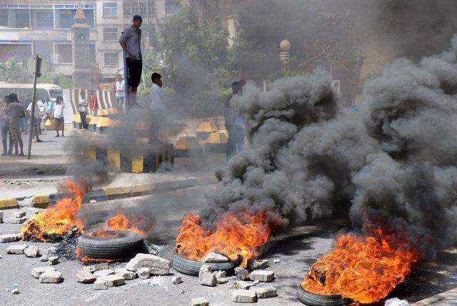 Manifestación en Adén