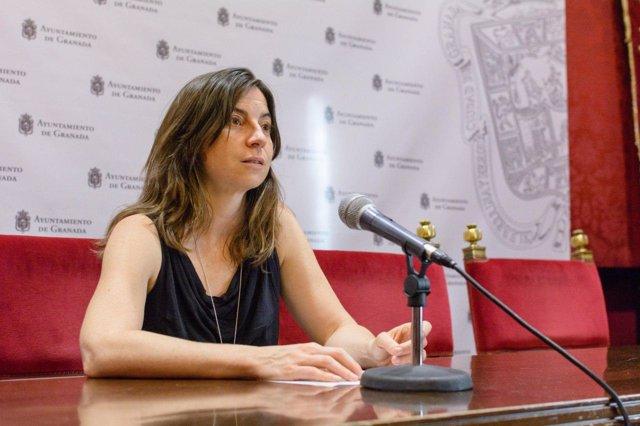 La concejal de Vamos Granada Marta Gutiérrez