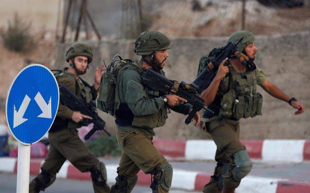 Militares israelíes en Hebrón, Cisjordania