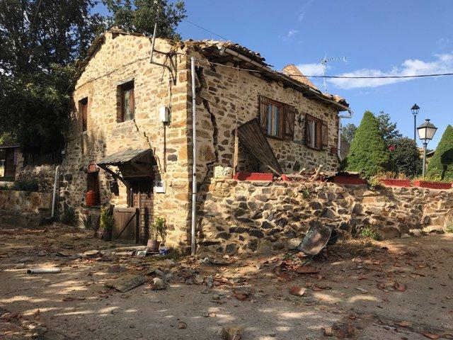 Vivienda afectada por una explosión en León