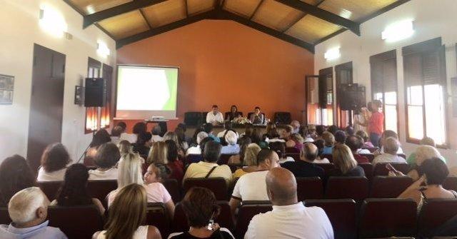 Acto del PSOE en Jabugo con la presencia de Sonia Gaya