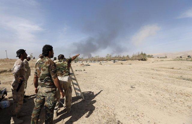 Milicianos iraquíes