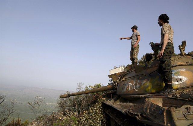 Milicianos rebeldes en Latakia, Siria