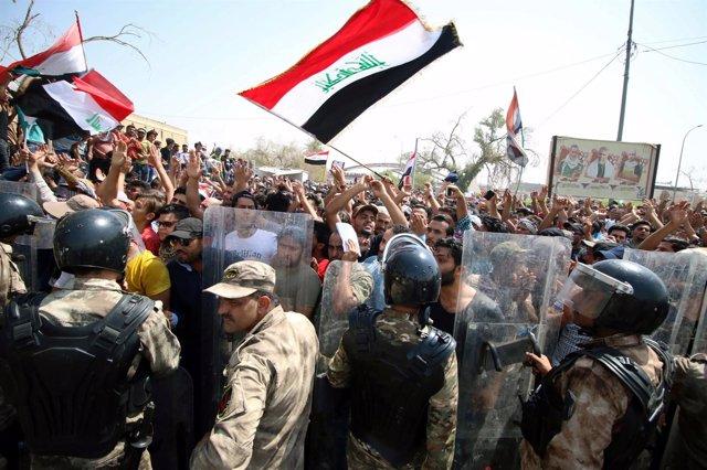 Manifestación en Basora