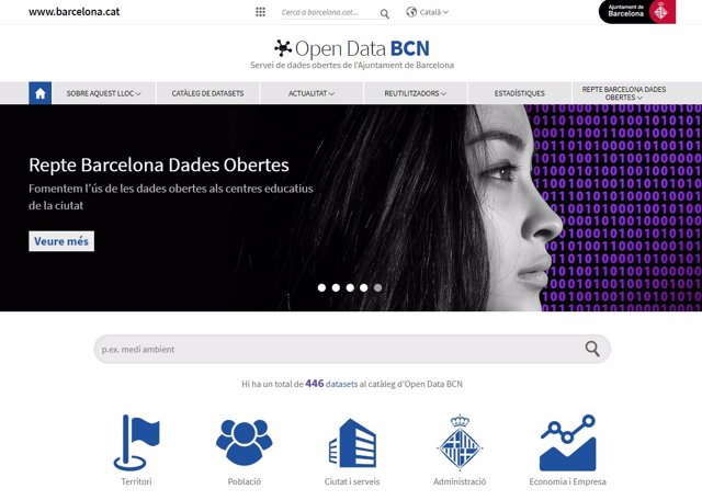 Portal Open Data Bcn de datos abiertos del Ayuntamiento de Barcelona