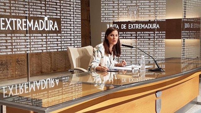 Gil Rosiña en la rueda de prensa el Consejo de Gobierno este martes
