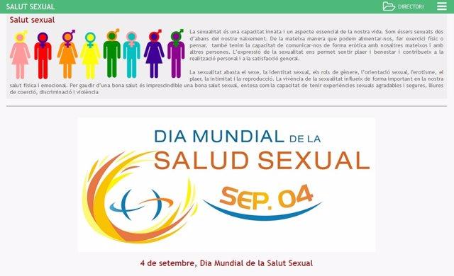 Web sobre sexualidad saludable del Govern