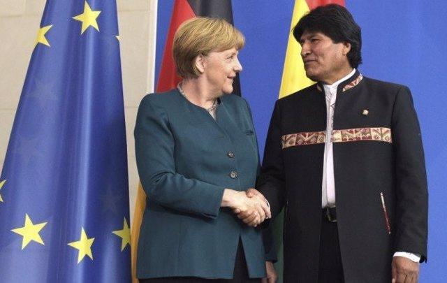 Morales y Merkel