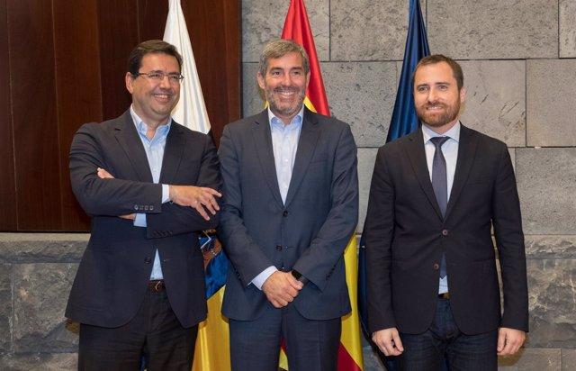 El presidente Clavijo se reúne con el director general de easyJet en España